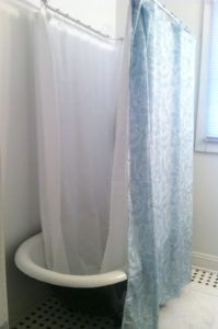 Shower Curtain Size For Clawfoot Tub Httppatrioticamusementsus