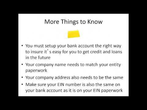 How to Setup a Business Bank Account