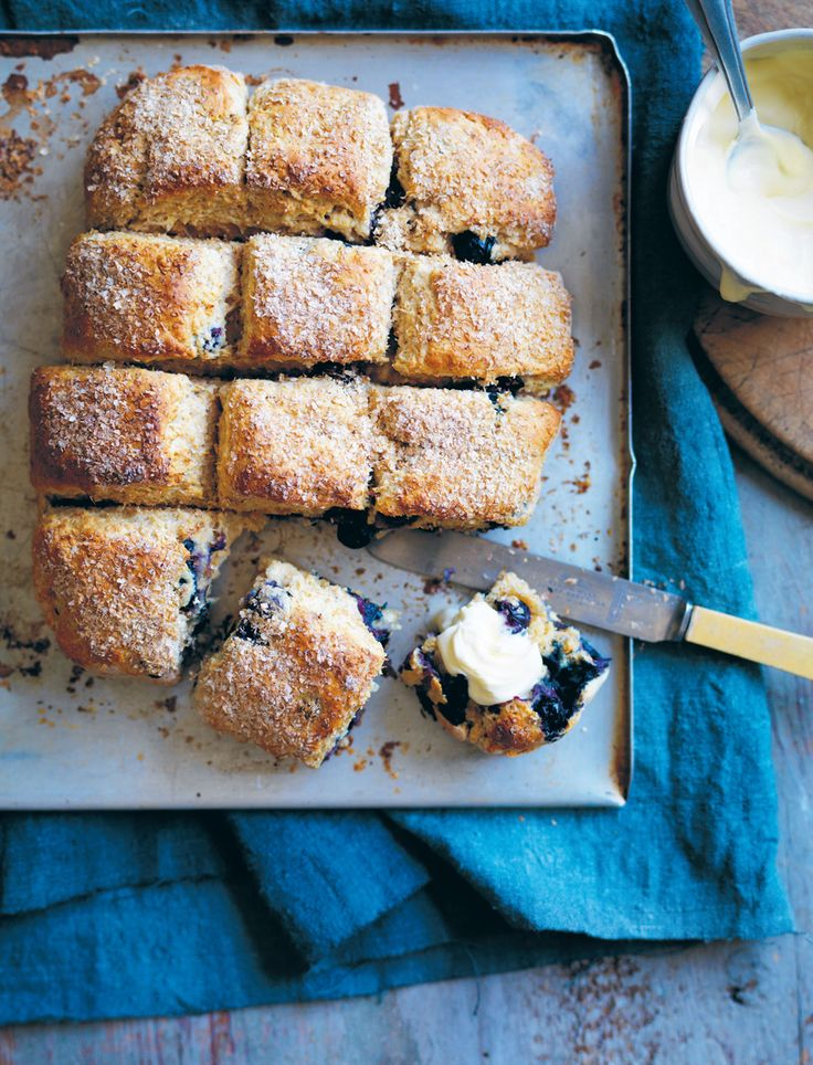 Wholemeal blueberry scones recipe from Something for Everyone by Louise Fulton Keats | Cooked