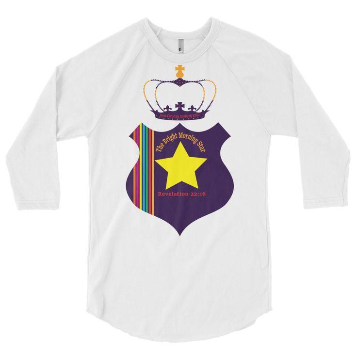 3/4 sleeve raglan shirt (The Bright Morning Star)