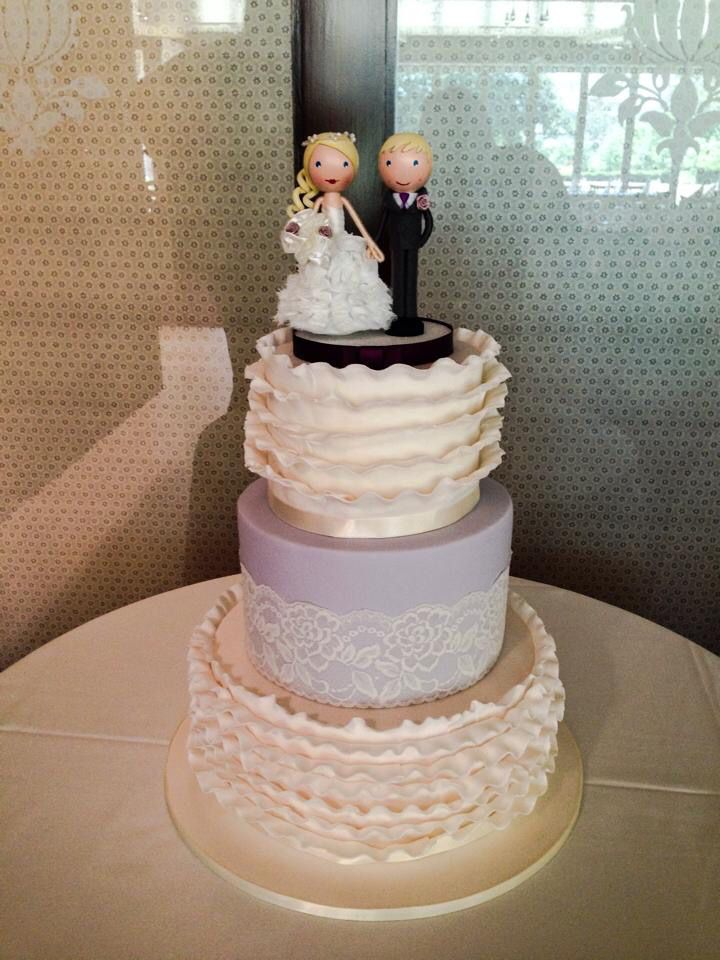 41 best cakes by emmas cake creations adelaide sa images on ivory ruffles and lace wedding cake junglespirit Images
