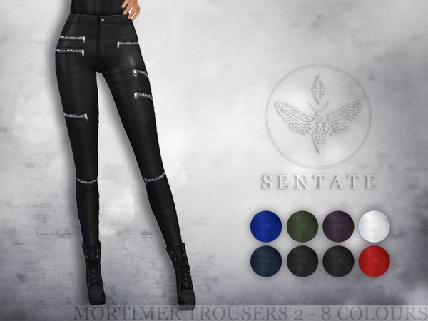 The Sims Resource: Mortimer Biker Pants by Sentate • Sims 4 Downloads