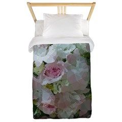 Pink Bridal Floral Low Poly Twin Duvet Cover