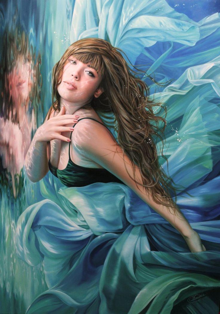 Gorgeous painting <3 Oil on canvas. Size: 100 x 140 cm by Raipun on Deviantart.