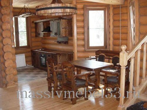 Мебель на заказ в Москве из сосны,дуба:Мини кухни под старину на заказ