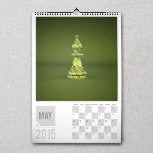 May 2015 #PremiumChessArtCalender #PremiumChess #chess #art #calender #kalender #LikeableDesign #illustration #3Dartwork #3Ddesign #chesspieces #chessart