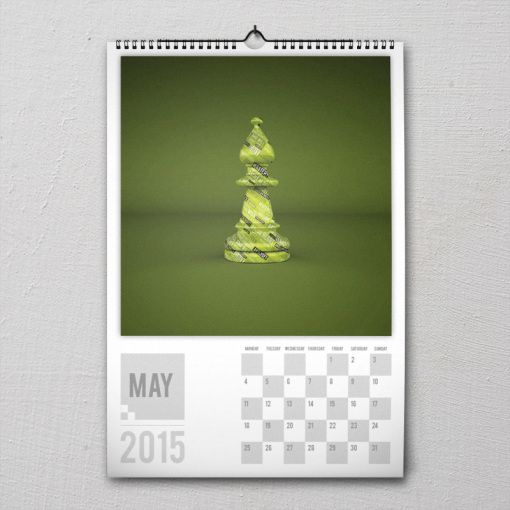 May 2015 #PremiumChessArtCalender #PremiumChess #chess #art #calender #kalender #LikeableDesign #illustration #3Dartwork #3Ddesign #chesspieces #chessart