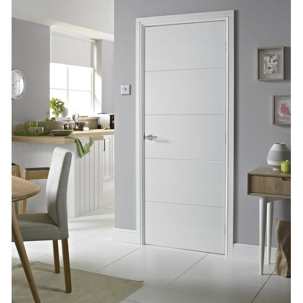 Encompassing Four Smooth Lines Neatly Stacked In A Stylish Horizontal Pattern This Design Is Perfect For M Internal Doors Doors Interior Modern Doors Interior
