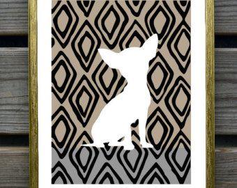 Impresión del arte de Chihuahua Chihuahua Home por PaperPlanePrints