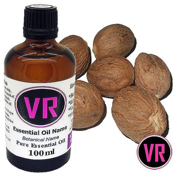 100ml Nutmeg Myristica fragrans Essential Oil by VandaRoseAroma