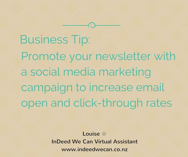 Email Marketing Business Tip from InDeed We Can Virtual Assistant NZ www.indeedwecan.co.nz