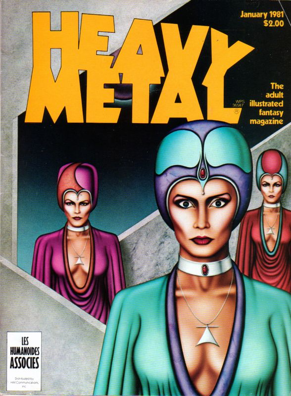 Heavy Metal - January 1981 - Cover by Robert Burger