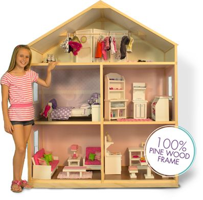 My girl 39 s doll house doll stuff 18 barbies casas de mu ecas mu ecas cosas para mu ecas for Ikea casa bambole
