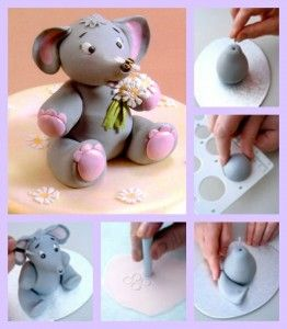 Baby Elephant fondant Tutorial created by Patchwork Cutters