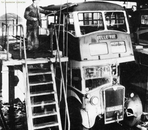 Commercial Lighting Manchester: Washing Buses At Hyde Road Bus Depot, Manchester.