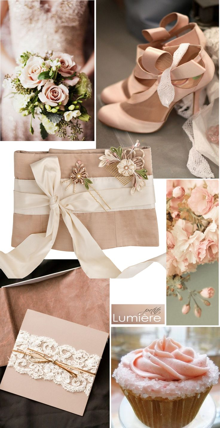 Soft blush and green with a dash of ivory- such a delicate wedding colour…