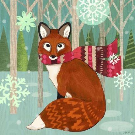 Woodland Fox by Jennifer Brinley | Ruth Levison Design