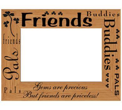 Laser Engraving On Wooden Frames Design For Friends Pals