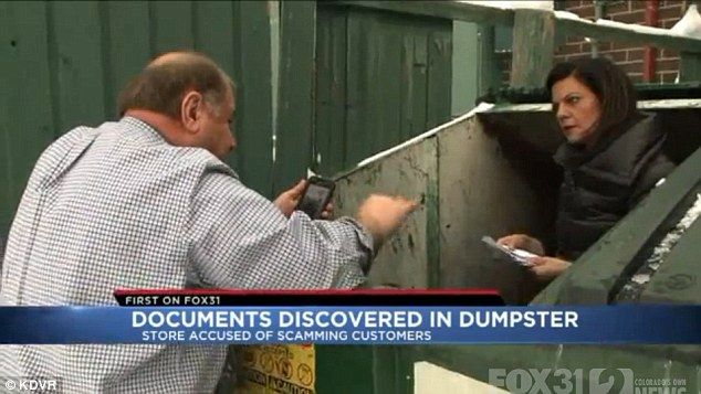 During a four-part investigative story for KDVR, Hemmat literally went dumpster diving to retrieve some of the receipts the owner (pictured) had allegedly thrown away