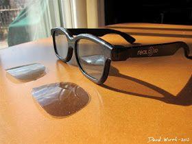 Real D 3D Glasses Polarized Lenses   Polarizing filter ...