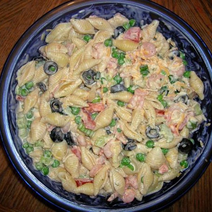 Shrimp pasta salad recipe food pinterest for Prawn and pasta salad recipes