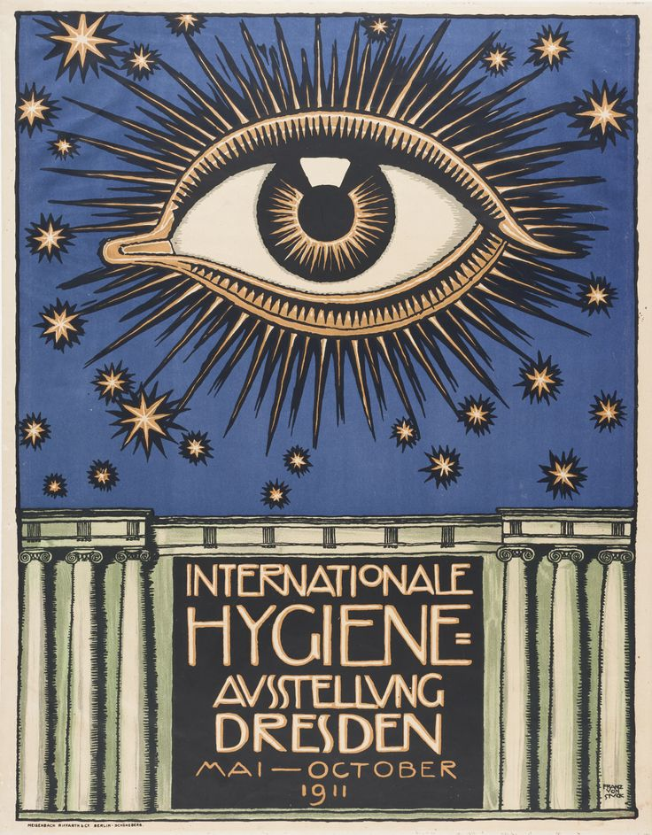 Mesmerizing advertising poster from the early 20th century.