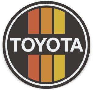 Retro Black Toyota Sticker