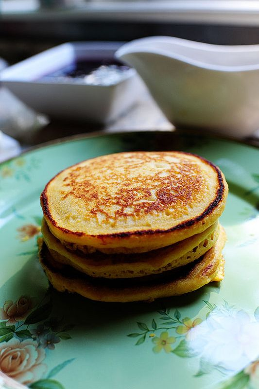 Cornmeal Pancakes (with Blackberry Syrup) | Recipe