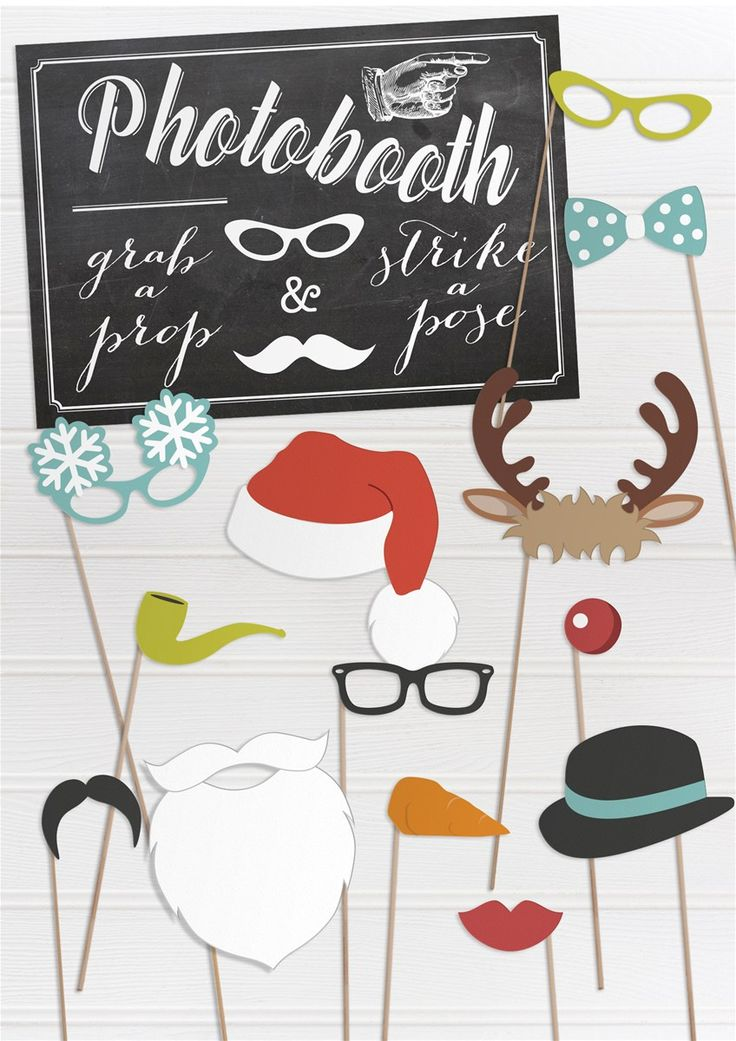 FREE printable christmas party props. Perfect for Christmas parties, Christmas dinner, Christmas weddings and photobooths. Get yours FREE here: http://www.appleberrypress.com/product.aspx?compId=1226