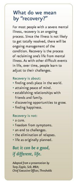"Such extraordinarily clear and concise words about what ""recovery"" from the challenges of mental illness entails. Still too sad that I feel it so very necessary to post this for the sole reason of the misinformation that is still so pervasive in our global society and in our own backyards regarding the nature of mental illness.    Give Them A Voice is an advocacy foundation. www.noworkingtitle.org"