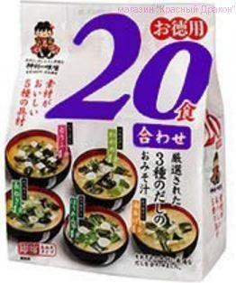 """Мисо-суп быстрого приготовления """"Miyasaka"""" с пониженным содержанием соли,  20 порций"""