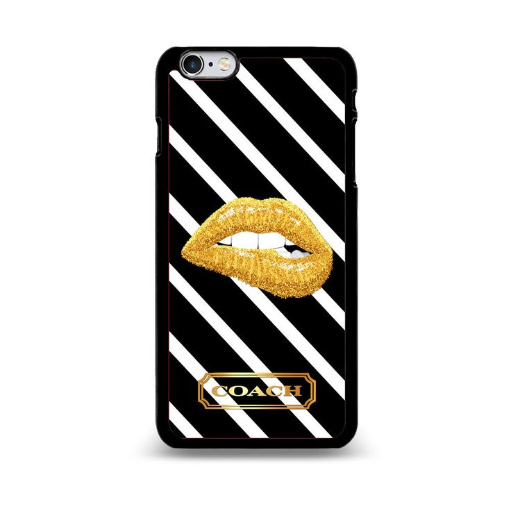 Coach Gold Lips White & Black Stripe Print On Hard Plastic Case Cover for iPhone #Coach #iPhone5 #iPhone5s #iPhone5c #iPhoneSE #iPhone6 #iPhone6Plus #iPhone6s #iPhone6sPlus #iPhone7 #iPhone7Plus #BestQuality #Cheap #Rare #New #Best #Seller #BestSelling #Case #Cover #Accessories #CellPhone #PhoneCase #Protector #Hot #BestSeller #iPhoneCase #iPhoneCute #Latest #Woman #Girl #IpodCase #Casing #Boy #Men #Apple #AplleCase #PhoneCase #2017 #TrendingCase #Luxury #Fashion #Love #BirthDayGift