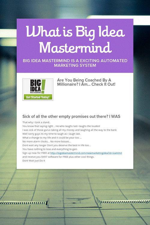 What is Big Idea Mastermind