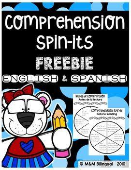 FREE Comprehension Spin-Its!   Need a quick and easy center during guided reading? These Bilingual Comprehension Spin-Its are a simple and fun way to monitor student comprehension. Use these in small groups independently during centers or as exit tickets.    Find this and other free resources at:  bilingual centers exit tickets guided reading independent small groups Spanish Spin-it