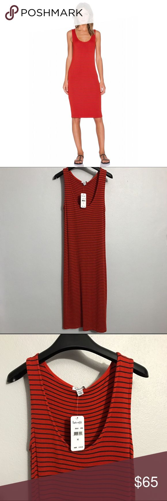 Splendid chic striped body-con dress. Figure flattering, mid-length with scoop neckline dress. Very soft fabric with some stretch. Splendid Dresses