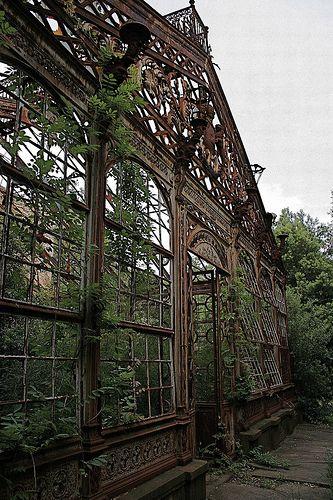 Beautiful abandoned greenhouse
