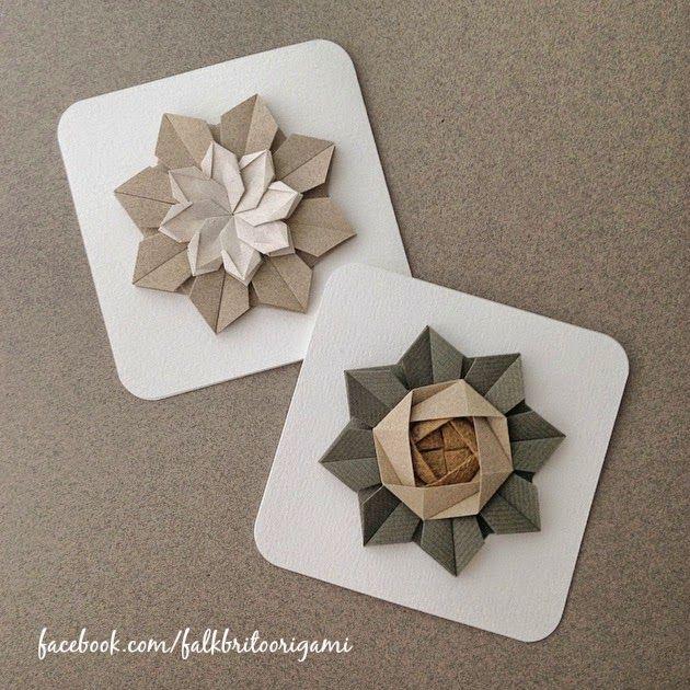 Card origami Flower