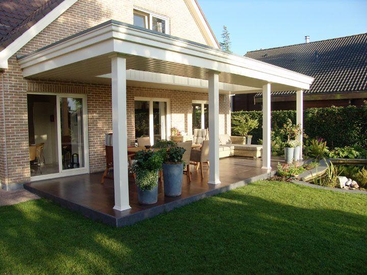 Luxe overkapping veranda plaatsen garden pinterest verandas porch and patios - Veranda modern huis ...