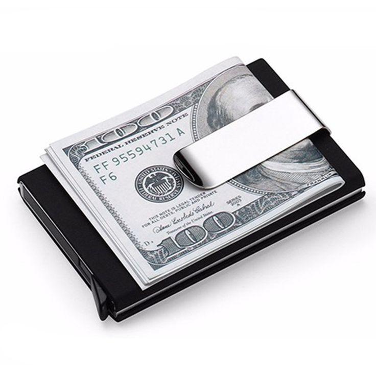 Rfid Путешествия Автоматическая Карты Бумажник Мужчины Женщины Бизнес ID Держатель Кредитной Карты с металлический зажим Кошельки #women, #men, #hats, #watches, #belts
