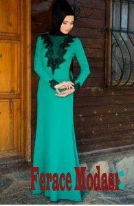 Dantel Detaylı Abiye Elbise Modelleri