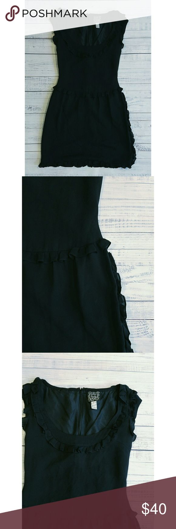Cynthia Rowley silk little black dress Lightly worn  Linned  Back zipped Silk 37.5 inches long  18.5 inches from armpit to armpit Cynthia Rowley Dresses