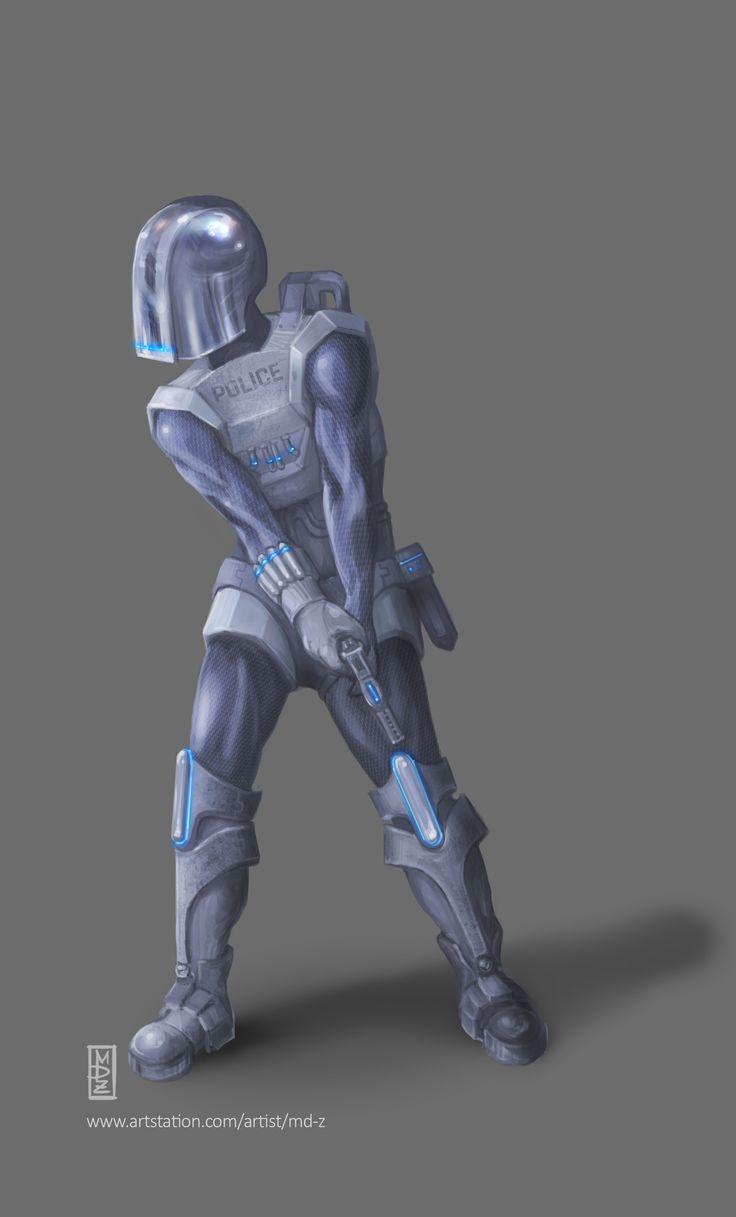 Megalopolis - police Biowars Character concept - Biowars 2016  https://www.artstation.com/artwork/85Enm