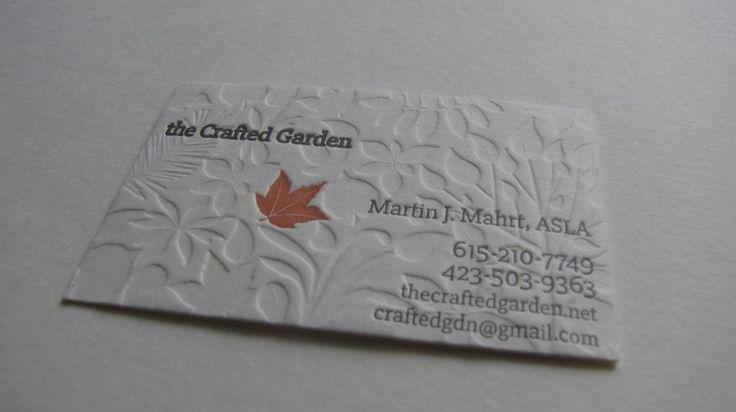 letterpress business cards #fallessentials #leaf