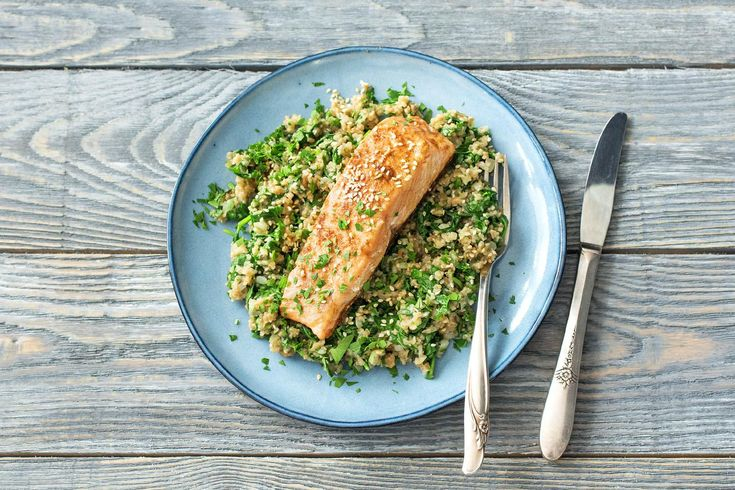 Chermoula Spiced Salmon with Freekeh Pilaf and Toasted ...