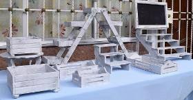 Muebles Para Mesa De Dulces 11,blanco Vintage, Candy Bar - $ 930.00
