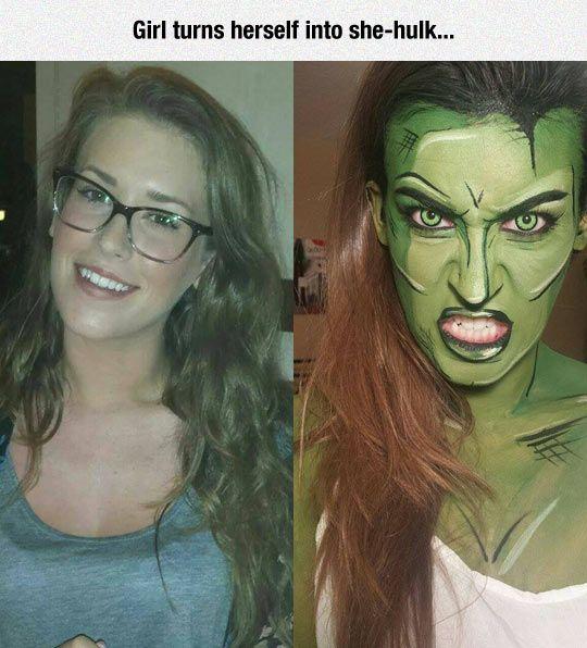 Incredible She-Hulk Make Up