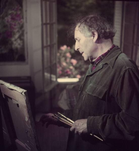 Mili, Gjon (1904-1984) - 1949 Marc Chagall in his Studio | Flickr - Photo Sharing!