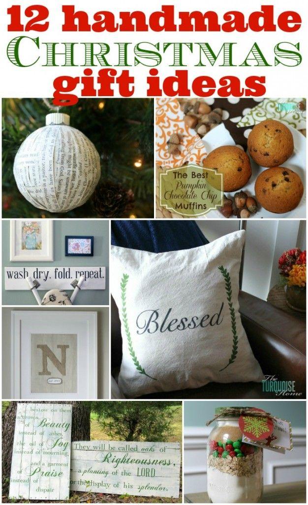 12 Handmade Christmas Gift Ideas #diy #gifts | TheTurquoiseHome.com