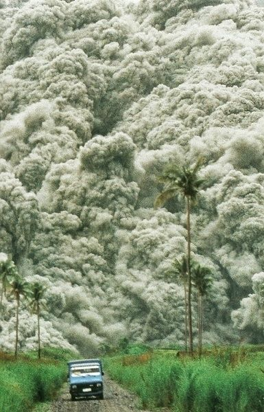 Roiling clouds of superheated ash surge from Mount Pinatubo in the PhilippinesNational Geographic | December 1992