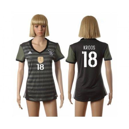 Tyskland Fotbollskläder Kvinnor 2016 #Kroos 18 Bortatröja Kortärmad,259,28KR,shirtshopservice@gmail.com